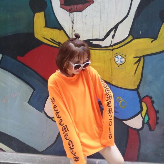 HTB1aCP2MVXXXXb1XVXXq6xXFXXXK - Oversize Design Super Long Sleeve Printed Hip Hop Female T-shirt