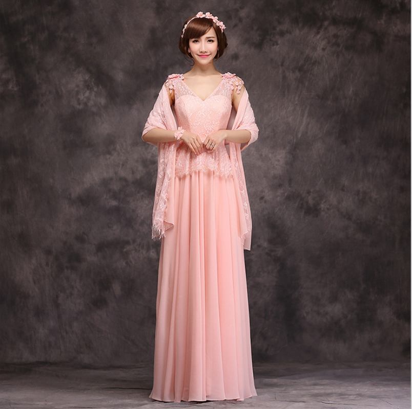 Sisters bridesmaid dress long section free shipping New high end ...
