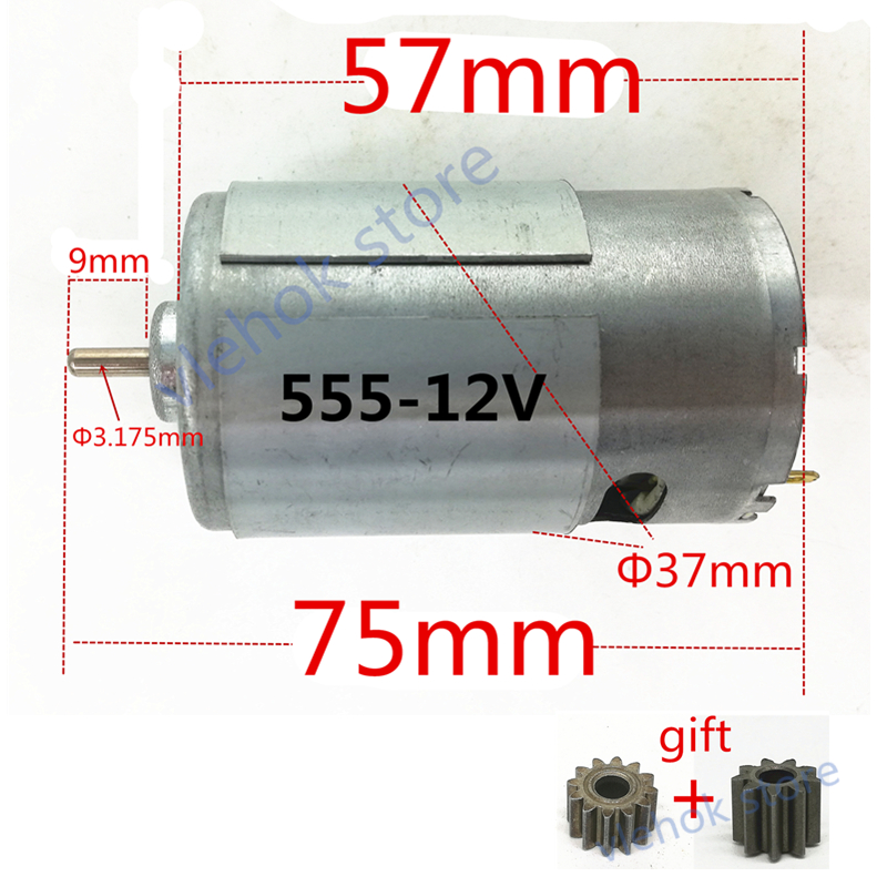 Motor <font><b>RS</b></font>-<font><b>555</b></font> DC 10.8V 12V replace for HITACHI BOSCH DeWALT Hilti Makita WORX Ryobi electric Screwdriver vacuum cleaner tools image