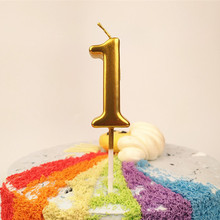 Baby Shower Gold Number Candle Cake Topper Cupcake Topper Wedding Decoration 1st Birthday Party Decorations Kids Accessories