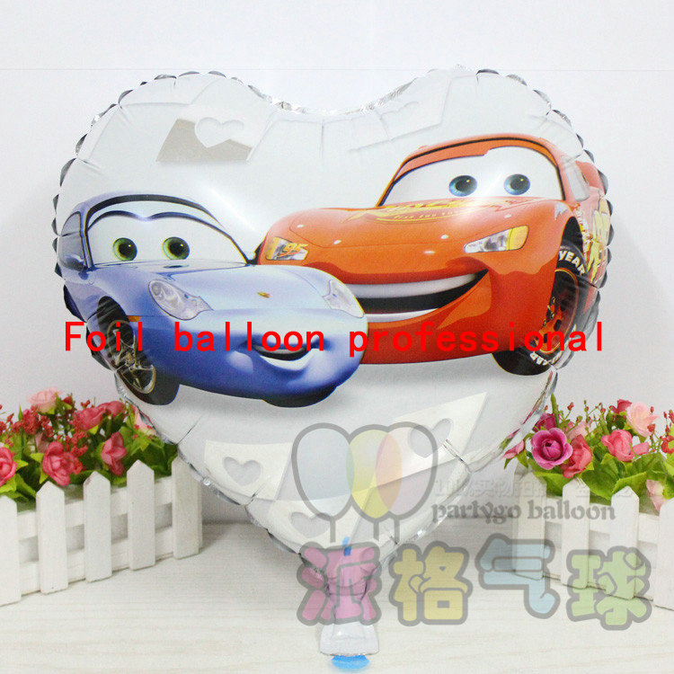 50pcs/lot 18inch heart Happy Birthday balloons Cars Balloon Party globos Supplie