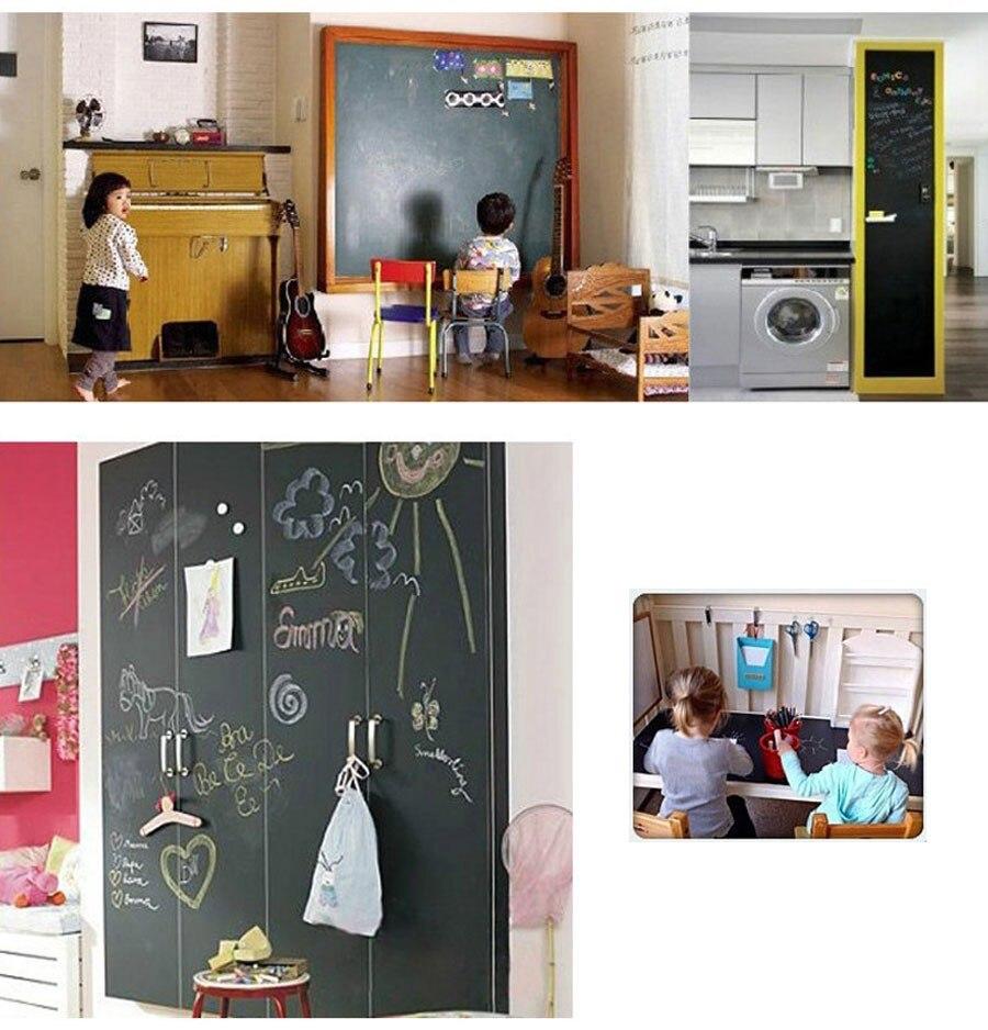2-pieceslot-Wall-Stickers-Blackboard-Paint-learning-children-drawing-toy-Vinyl-Chalkboard-3040CM-4