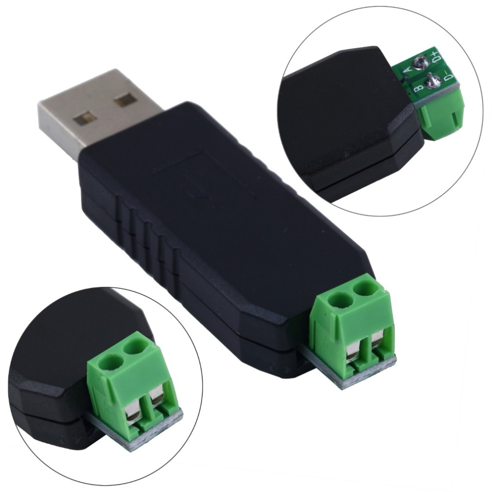 1 pcs Support Win7 XP Vista Linux USB to RS485 USB-485 Converter Adapter for Mac OS Free / Drop Shipping