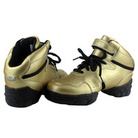 New Style Golden Breathable Modern Dancing Sneakers Woman Jazz Dancing Shoes Zapatilla De Deporte WZJ DS3