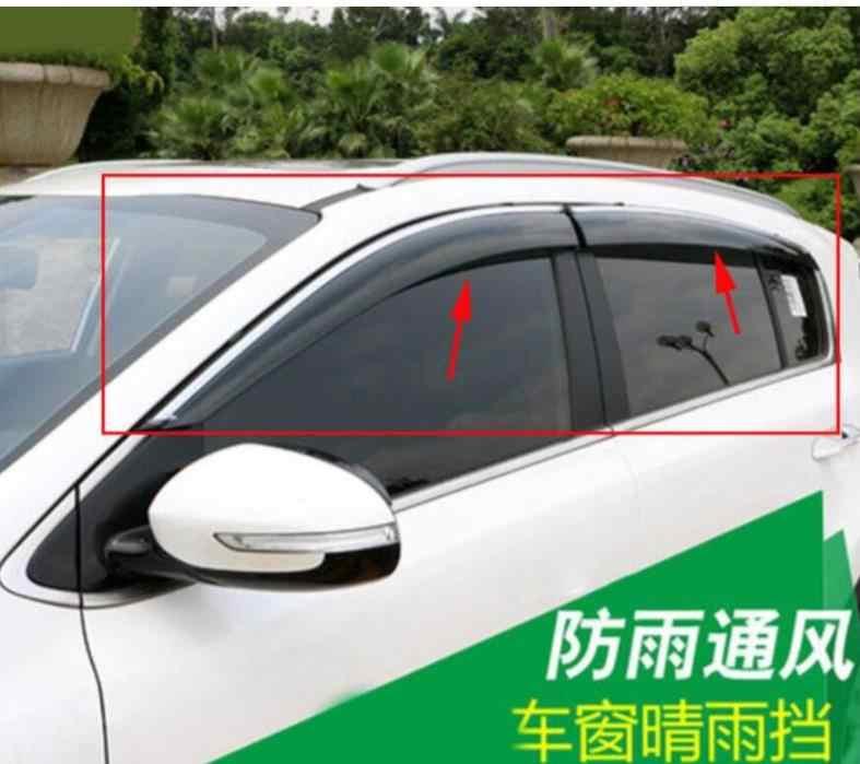 車カバー車の窓雨よけシールドカバー ABS サンシールド適切な 2016 2017 2018 起亜 Sportage KX5