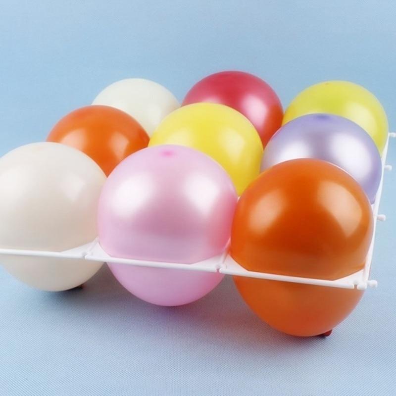 10pcs / lot 9 rupa Latex balon mrežaste balone zidne dekoracije - Za blagdane i zabave - Foto 1