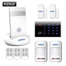 Kr-g15 alarma inalámbrica gsm sistemas de alarma antirrobo casa sistema android/iphone app controlado inglés/ruso/español/voz francesa
