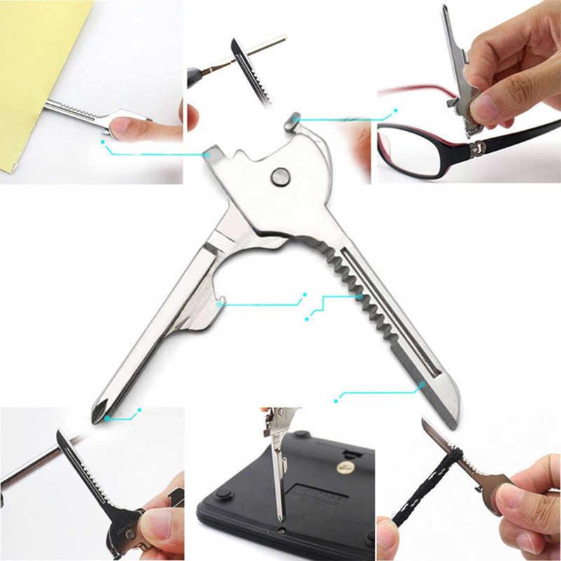 Швейцарские технологии Многофункциональный Utili ключ инструмент 6в1 Карманный Брелок Открытый Инструмент Мультитул для авто кемпинга оборудование полированный нож