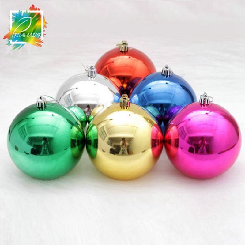 Lovely 6 Christmas Ornaments Part - 12: 6 Pcs /lot 8cm Christmas Ornament For Christmas Tree Decor Ball Bauble  Hanging Xmas Party Ornament Decorations JY-189-6