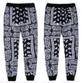 Harajuku nueva moda 2015 hombres/mujeres hip hop pantalones basculador bandana KTZ impresión gráfica elegante pista pantalón hiphop streetwear