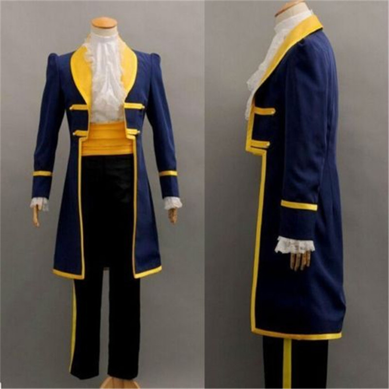 Takerlama Prince Beast Costume Beauty and the Beast Cosplay Prince Adam Cosplay Costume Halloween Clothes Costumes for Men