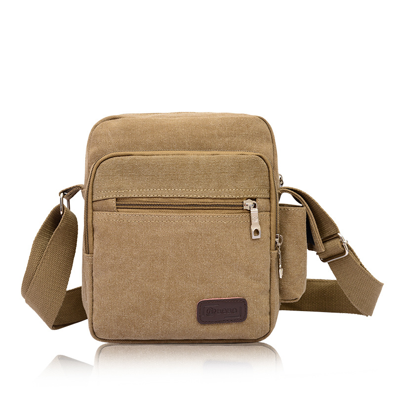 Washed Canvas Small Men's Messenger Bag Crossbody Shoulder Bags Travel Tool Kit Casual Bags
