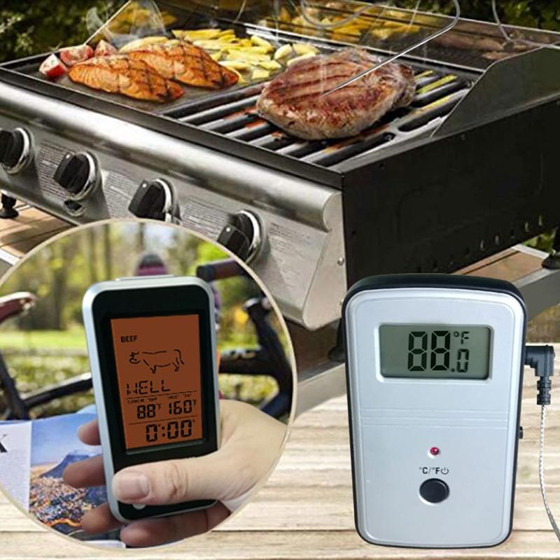 Digital BBQ Thermometer Trådløs Køkken Ovn Madlavning Grill Tobak - Husholdningsvarer - Foto 3