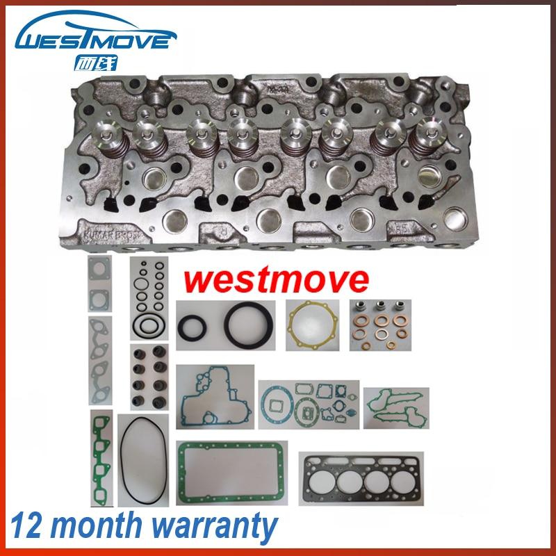 complete cylinder head assembly ASSY for Kubota ENGINE : V2403 V2203 + FULL engine gasket цены