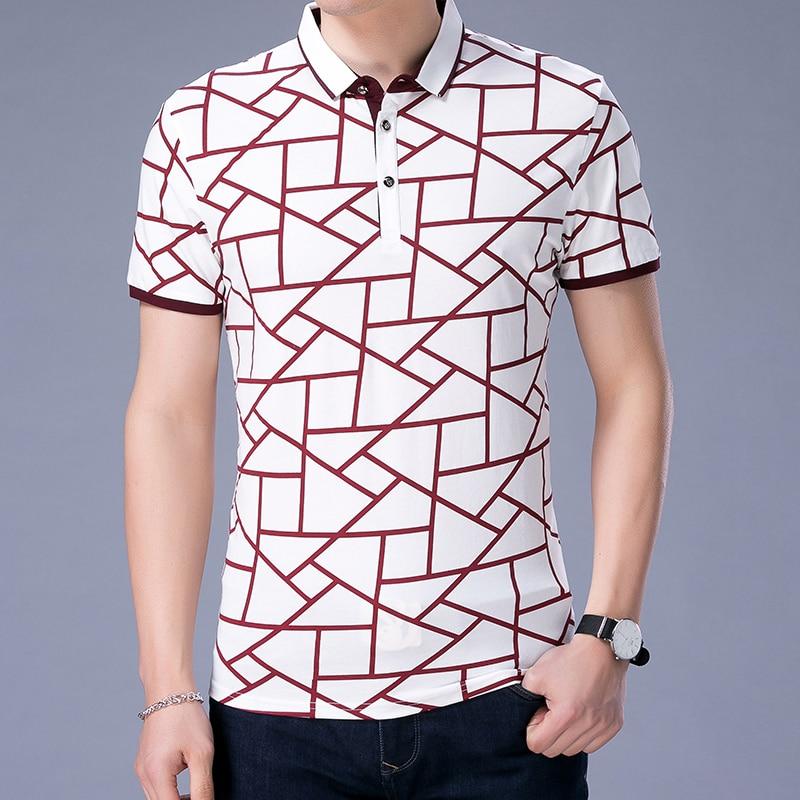 2019 New Fashions Brand Designer   Polo   Shirt Men Breathable Plaid Short Sleeve Slim Fit Boyfriend Gift   Polos   Casual Men Clothing