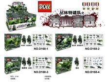 Doll D168 Jungle Dispatch Team Fight a Bloody Battle Minifigures Building Block Minifigure Compatible with Legoe Brick Toys