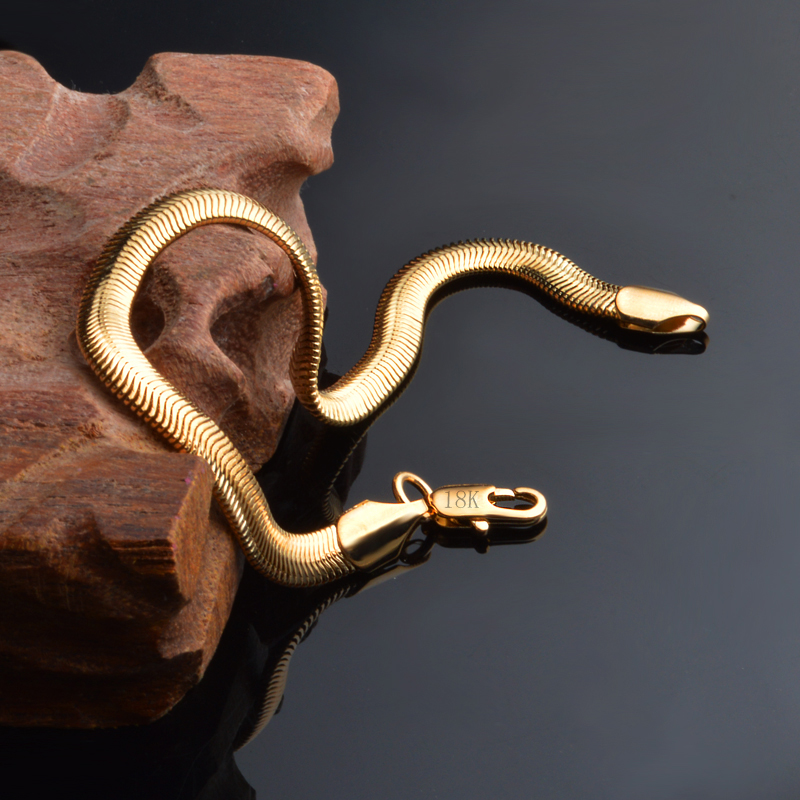 Fastionthin 6pcs 24k or jaune rempli collier chaîne à maillons 44 cm Lady/'s JEWELLRY