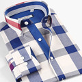 Smartfive Brand 100% Cotton Plaid Shirt Men Imported Clothing Camisa Masculina Long Sleeve Summer Style Shirts Men Size XS-6XL