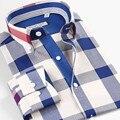 Smartfive marca 100% camisa de algodón a cuadros hombres importado clothing estilo camisas de los hombres camisa masculina de manga larga de verano tamaño xs-6xl