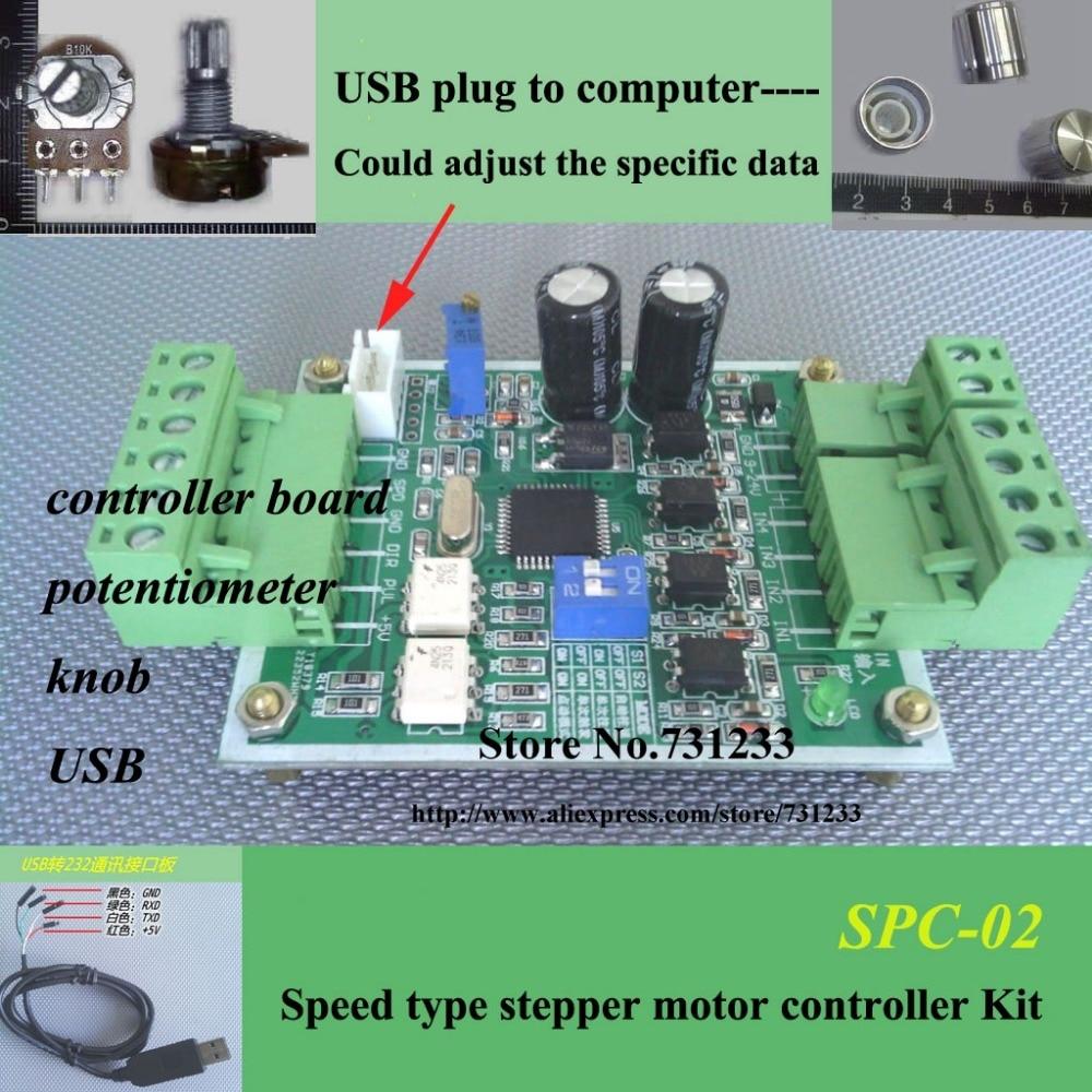 Stepper motor controller board kit spc 02 single axis for Stepper motor control board
