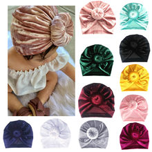 Cute Newborn Baby Hats Toddler Kids Baby Boy Girl Turban Cotton Beanie Hat Infant Baby High Quality Winter Warm Cap(China)