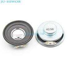 (2pcs/lot)  4 ohm 3W 3Watts 50MM Speaker 22mm Internal Magnetic Foam Edge Round Silvery Cap Height 20MM