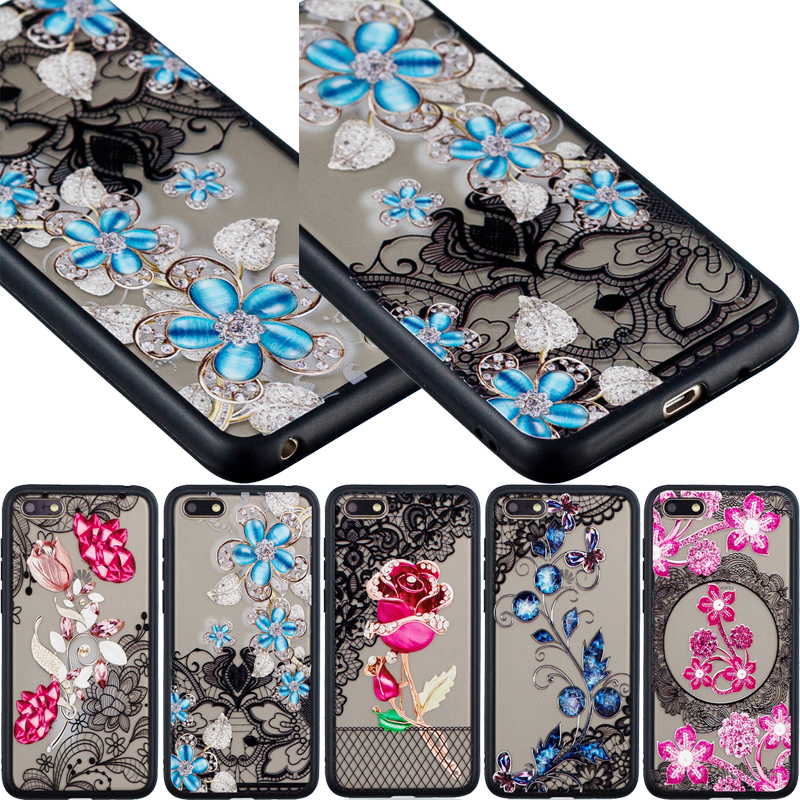 0c7189ea757 Varnish 3D Relief 2 in 1 TPU+PC Lace Case Phone Silicone Cover Shell Coque Fundas  for Samsung Galaxy J7 2018 US J3 J5 J7 2017 EU