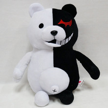 Kawaii Cartoon Monokuma Bear Soft Plush font b Toy b font Black Pink Anime font b