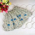 Summer Baby Kids Girls Bowknot Floral Pompon Layered Skirt Floral Tulle Tutu Skirts AT8