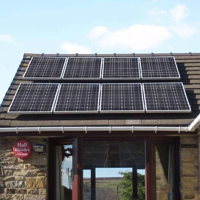 XINPUGUANG 2PCS 3PCS 4PCS Solar panel 100W 18V Glass solar Panels 200W 300W 400W panneau flexible bsolaire Monocrystalline board 6