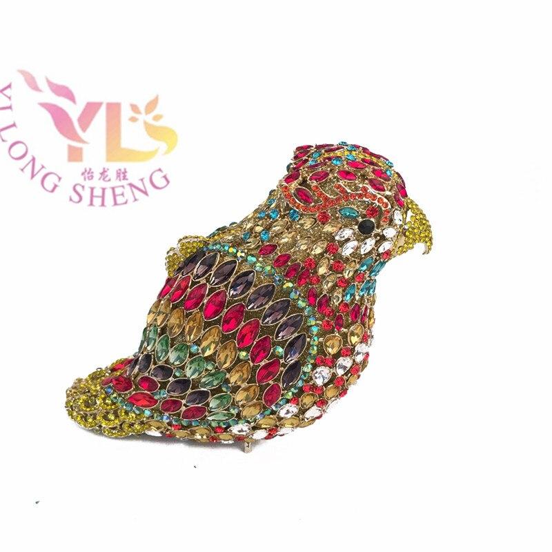 Vintage Women Handbag Clutch Fashion Wholesale Bird Rhinestone Clutches And Purses Weddding Bridal Purse YLS-A25 bird patch purse