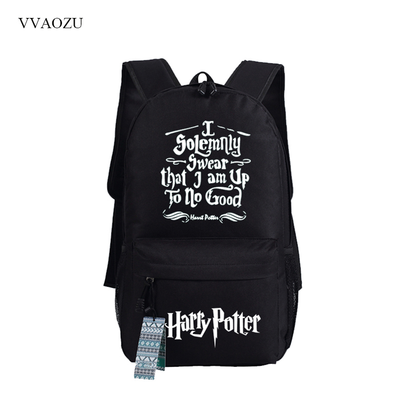 Harry Potter Knapsack Mochila Backpack Laptop Bag Harry School Bags Back Pack Men Shoulder Bag for Boys Girls Travel Rucksack men student backpack vintage canvas backpack shoulder bag school bag travel bag book pack mochila satchel knapsack women bags