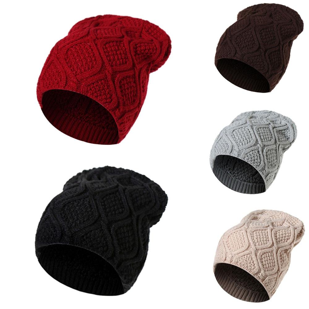 KLV winter cap women hats knitting wool boy girl cappello Warm ...
