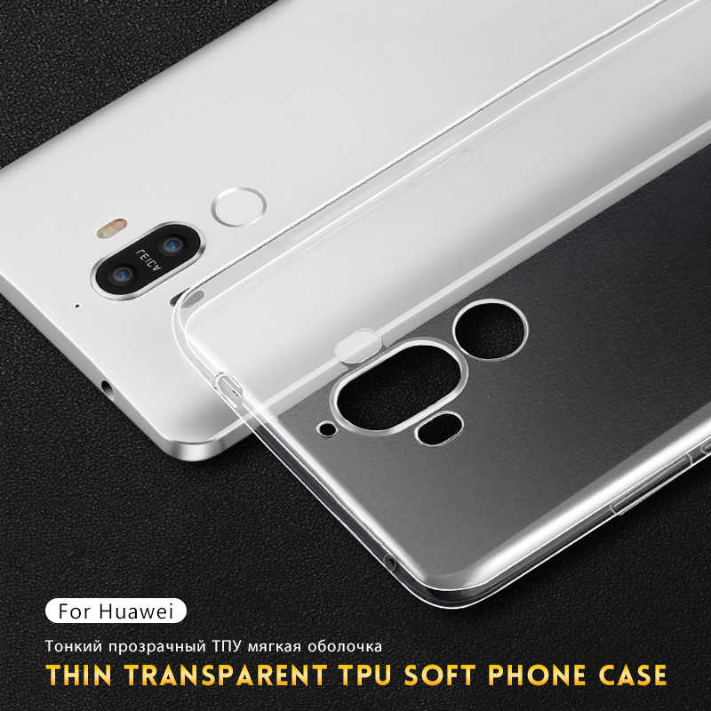 TPU Case For Huawei P20 Lite P30 Pro Mate 10 Pro 20 Lite P10 Plus Transparent Silicone Back Cover For Huawei Nova 4 5 Pro 5i