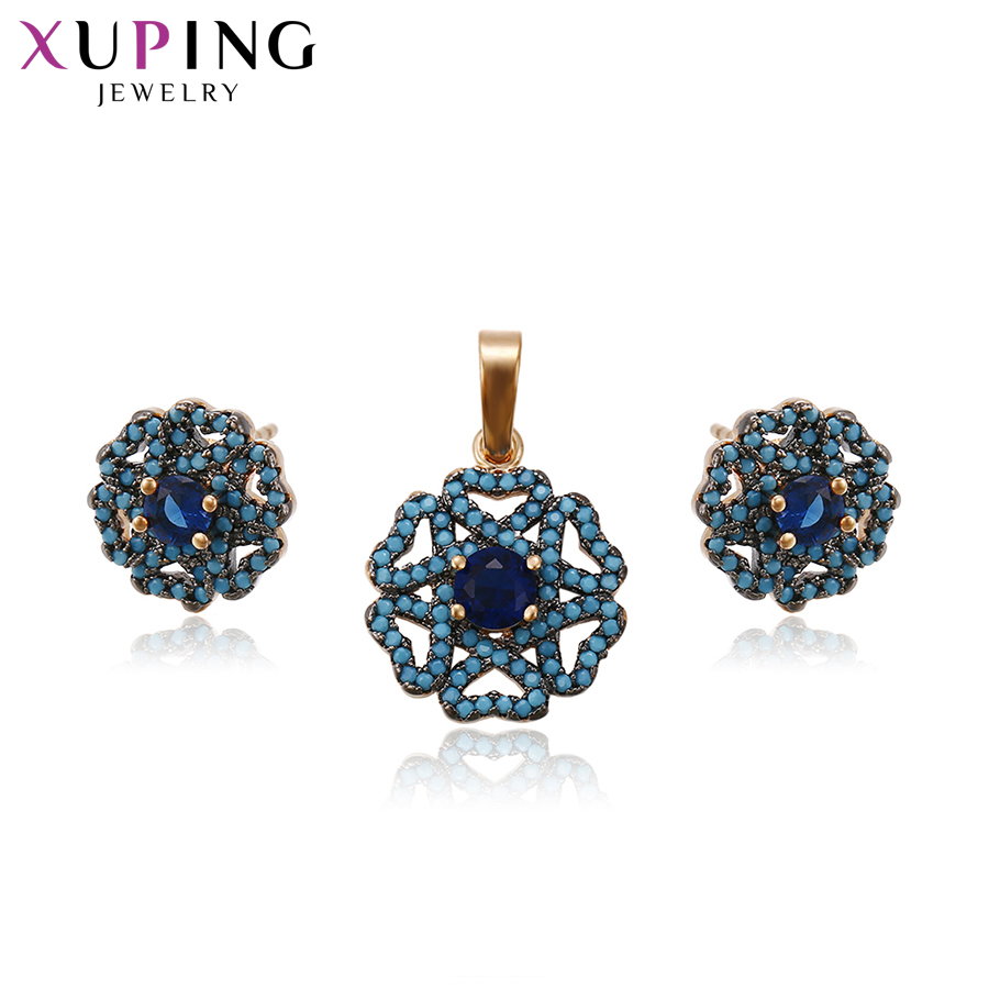 11 11 Deals Xuping Fashion Charm Heart Circle Jewelry Sets With Synthetic CZ Jewelry for Women