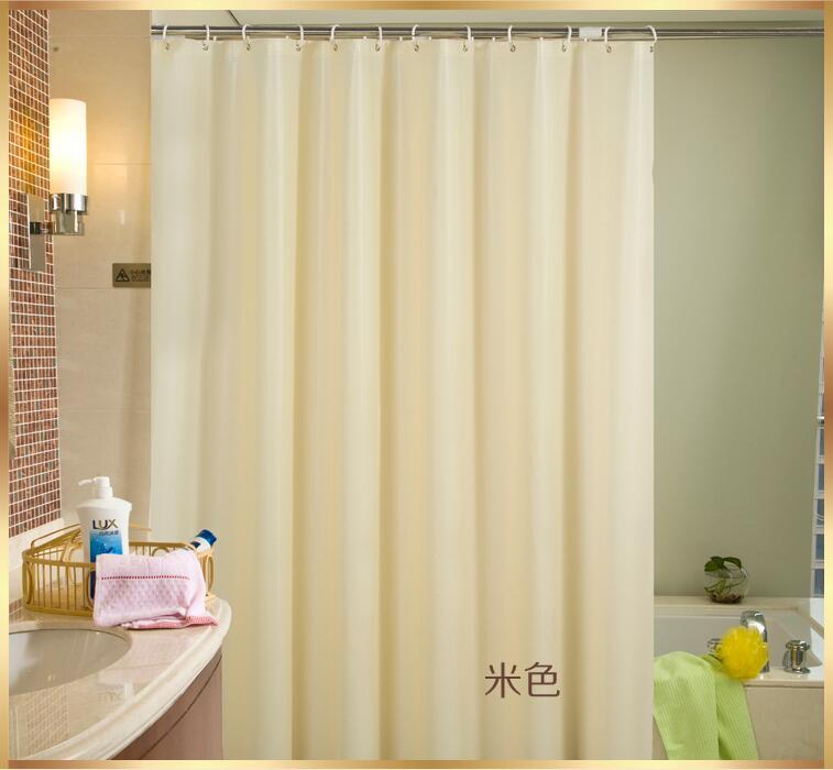 Solid PEVA Bathroom Shower Curtain Waterproof mould proof Bath ...