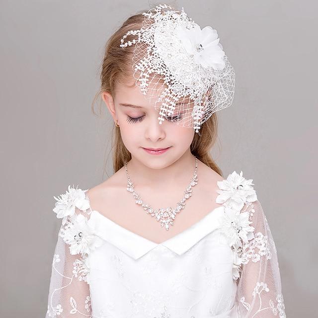 Kinder Hut Hochzeit Taufe Kommunion Braut Blume Madchen Kurzen Kopf