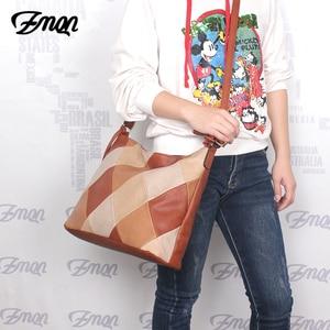 Image 5 - ZMQN Luxury Handbags Women Bags Designer Casual Tote Shoulder Bag For Women 2020 Patchwork Ladies Hand Bags PU Leather Big C861