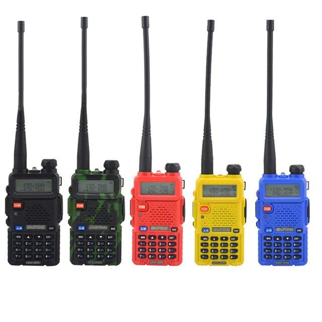 Baofeng walkie talkie uv 5r dualband hai cách phát thanh VHF/UHF 136 174 MHz & 400 520 MHz FM Thu Phát Cầm Tay với tai nghe