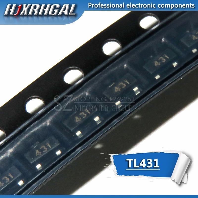 50 adet TL431 SOT23-3 SOT23 TL431A SOT-23 431 SOT SMD voltaj regülatörü IC