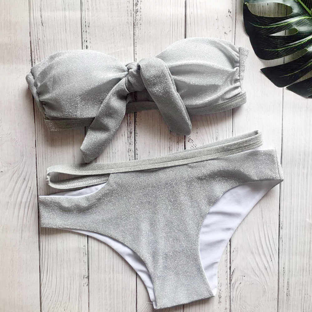 Telotuny kobiety stroje kąpielowe lato seksowne cekiny Bling ciążowe stroje kąpielowe stroje kąpielowe kobiety push up costumi da bagno donna JL 11