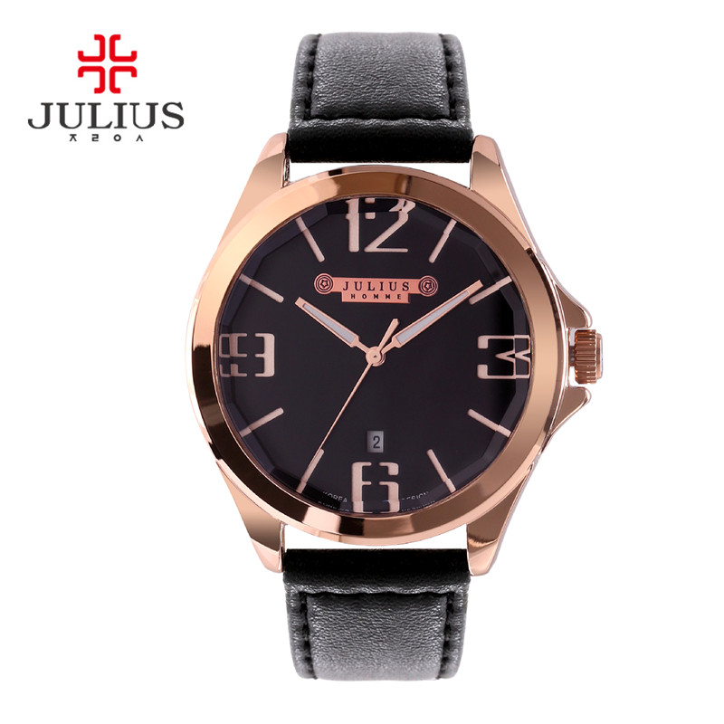 Julius Homme Men s Wrist Watch Quartz Hours Top Fashion Retro Dress Bracelet Leather Boy Birthday