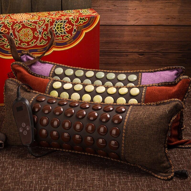Jade Electric Heating Pillow Germanium Neck Pillow Therapy Pillow Health Cervical Pillow