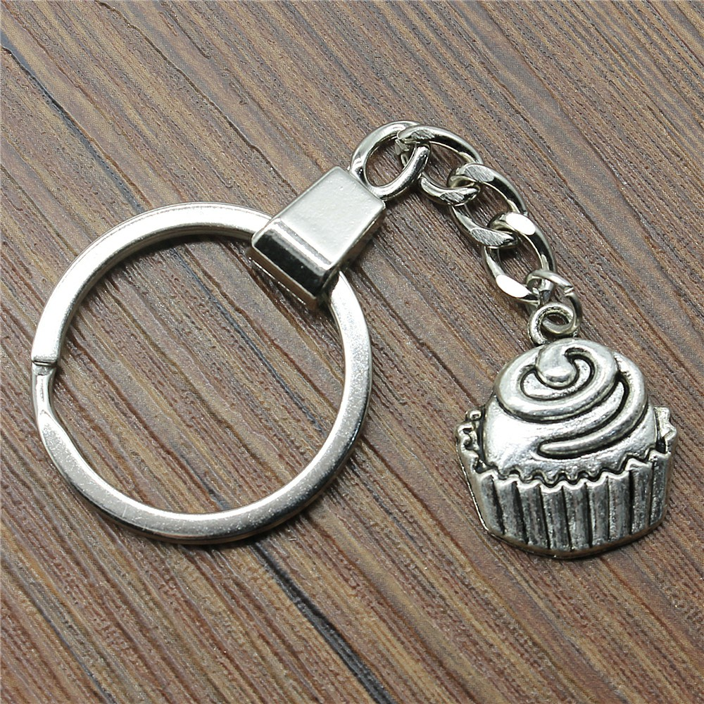WYSIWYG Cupcake Mix Key Chain Mushroom Charms For Diy Handmade Gifts Cake Jewelry in Key Chains from Jewelry Accessories