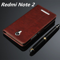 Fundas Xiaomi Redmi Note 2 High Quality Flip Cover Case Magnetic Leather Holster For Xiaomi Redmi