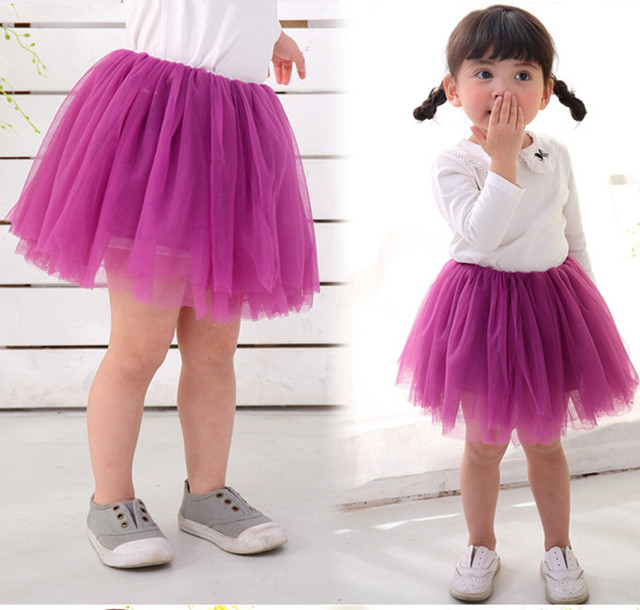 Baby Girl Skirt Princess Soild Colors Tutu Skirts Pettiskirt For Kids Lace Mini Tulle Children