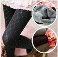 250G Dark Grain Dot Pants Double Winter Sex Leggings,Increase Baidu Body of Beautiful Body model Warm Women Leggings