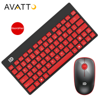 AVATTO Fashionable Ultra Slim 2 4GHz Wireless 78 Keys Keyboard Mouse Combo With 10m Working