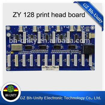 Brand New!! Zhongye 12 Heads Printer Xaar 128 Head Board Carriage Board eco solvent printer spare parts brand new novajet inkjet printer 750 1000i carriage board head board for sale