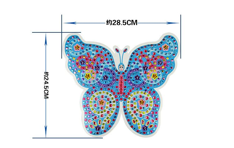 4 Designs/lot Diy Stickey Mosaic Art Stickers Puzzle Butterfly Early Learning Education Kits For Children 3-6years